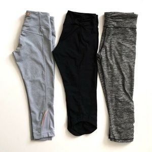 Lot of 3 Cropped Athletic Leggings  Small